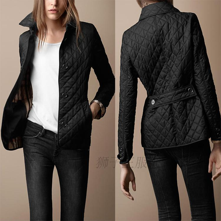 Womens quilted jacket black