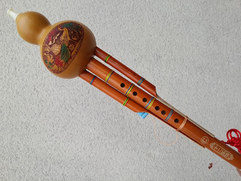C调降B调双音葫芦丝赠入门曲谱葫芦丝乐器专卖批发,乐器 上海新